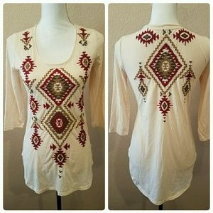 Johnny Was Embroidered Tunic Sz XS